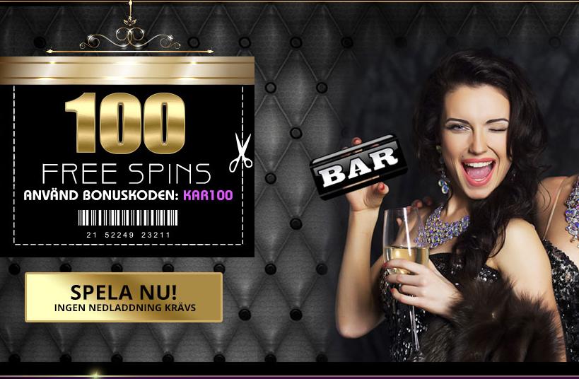 100 freespins hos Karamba