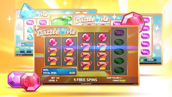 dazzle me slot freespins