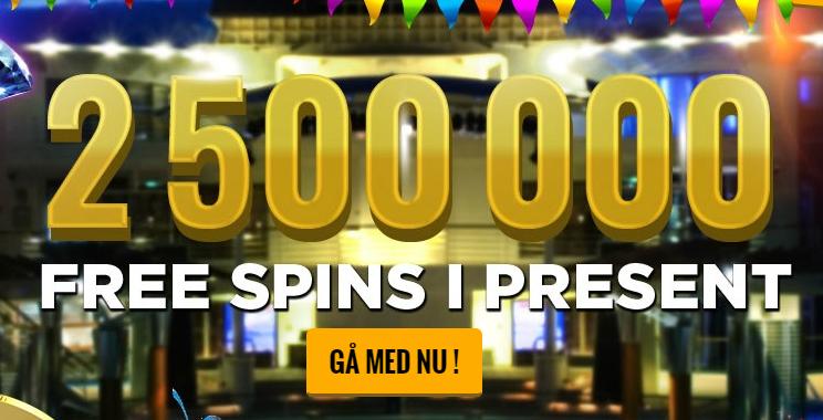 2,5 miljoner freespins