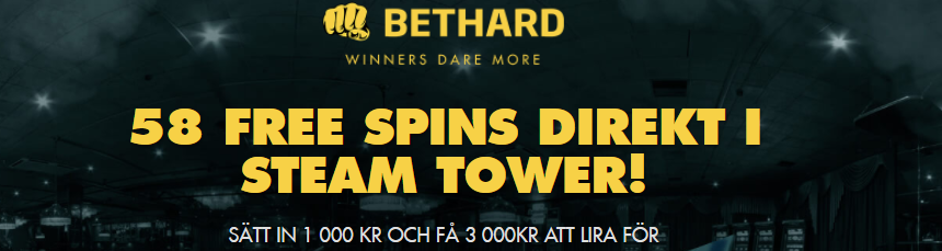 Steam Tower freespins