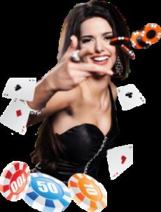 casino tjej slänger spelmarker