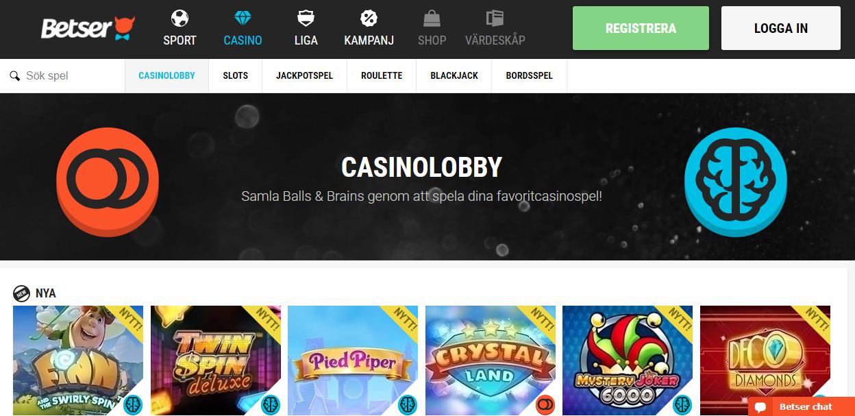betsser casino lobby