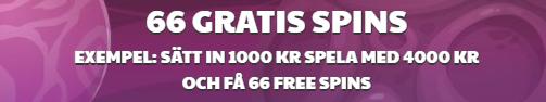 66 gratis spins