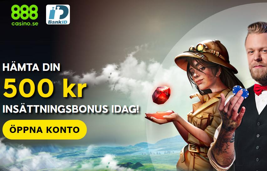 888 casino 500kr i bonus