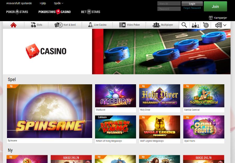 Pokerstars casino lobby
