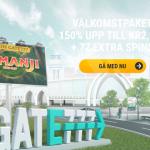 Gate777 tillagt: 77 free spins och 2000kr i casino bonus